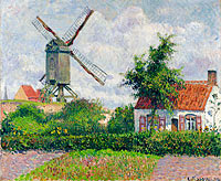 Camille Pissarro: The Windmill at Knokke