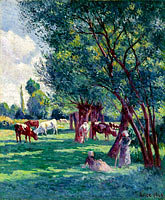 Maximilien Luce: Bessy-sur-Cure, Peasants Looking for the Cows