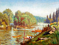 Émile Bernard: The Banks of the Marne at La Varenne