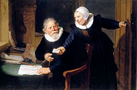 Рембрандт: The Shipbuilder and his Wife: Jan Rijcksen (1560/2-1637) and his Wife, Griet Jans
