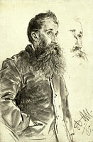 Study of a Man with a Beard, His Hand in His Pocket