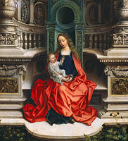 Adriaen Isenbrandt: The Madonna and Child Enthroned