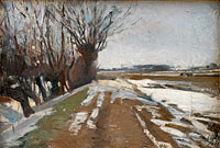 Альберт Готшальк: Winter Landscape. Utterslev near Copenhagen