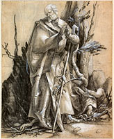Альбрехт Дюрер: Bearded Saint in a Forest, c. 1516