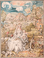 Альбрехт Дюрер: Mary among a Multitude of Animals, c. 1503