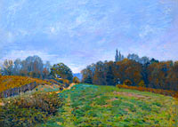 Alfred Sisley: Landscape at Louveciennes