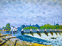 Alfred Sisley: Molesey Weir, Hampton Court
