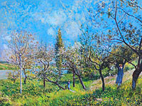 Alfred Sisley: Français: Un verger au printemps, By