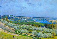 Alfred Sisley: The Terrace at Saint-Germain, Spring