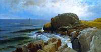 Alfred Thompson Bricher: Castle Rock, Marblehead