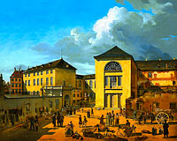Andreas Achenbach: The Academy Courtyard (The Old Academy in Düsseldorf)