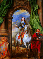Anthony van Dyck: Charles I (1600-49) with M. de St Antoine