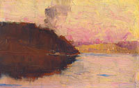 Arthur Streeton: (The Point, sunset)