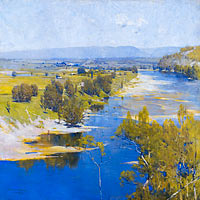 Arthur Streeton: The purple noon's transparent might