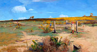 Arthur Streeton: Early summer - gorse in bloom