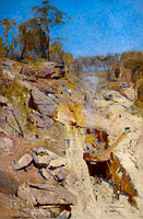 Arthur Streeton: Fire's on