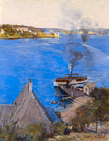 Arthur Streeton: From McMahon's Point - fare one penny