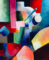 Август Маке: Colored Composition of Forms, 1914