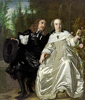 Bartholomeus van der Helst: Portrait of Abraham del Court and his wife Maria de Kaersgieter