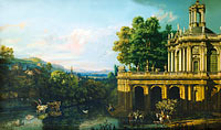 Bernardo Bellotto: Architectural Caprice with a Palace