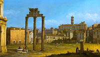 Бернардо Беллотто: Ruins of the Forum, Rome