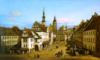 Bernardo Bellotto: The Marketplace at Pirna
