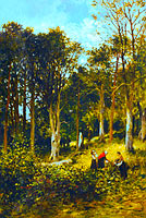 Kate S. Brodie: Landscape (Four Figures in a Wood)