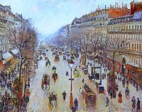 Boulevard Montmartre, morning, cloudy weather