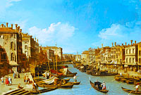 Canaletto: The Grand Canal near the Rialto Bridge, Venice