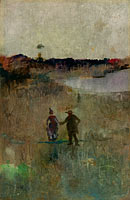 (Landscape with two small figures, Richmond, NSW)
