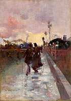 Charles Conder: Going home (The Gray and Gold)