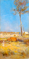 Charles Conder: Under a southern sun (Timber splitter's camp)