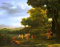 Claude Lorrain: Landscape with Dancing Satyrs and Nymphs