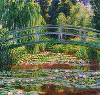 Claude Monet: The Japanese Footbridge and the Water Lily Pool, Giverny