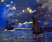 Claude Monet: A Seascape, Shipping by Moonlight