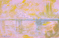Claude Monet: Charing-Cross Bridge in London