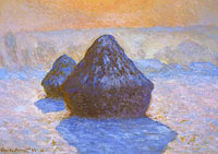 Claude Monet: Haystacks: Snow Effect