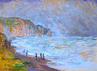 Claude Monet: Heavy Sea at Pourville