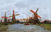 Claude Monet: Mills at Westzijderveld near Zaandam