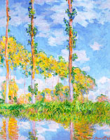Claude Monet: Poplars in the Sun
