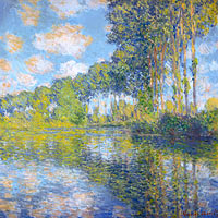 Claude Monet: Poplars on the Epte (1)