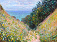 Клод Моне: Road at La Cavée, Pourville