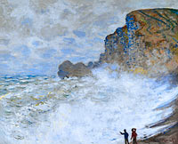 Claude Monet: Rough weather at Étretat