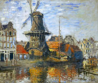 Claude Monet: The Windmill on the Onbekende Gracht, Amsterdam