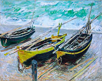 Claude Monet: Three Fishing Boats