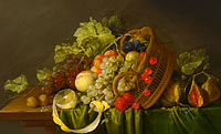 Корнелис де Хем: Still Life with a Basket of Fruit