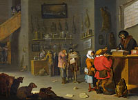 Cornelis Saftleven: Satire on Litigious Farmers