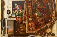 Корнелис Норбертус Гисбрехтс: Trompe l'oeil. A Cabinet in the Artist's Studio