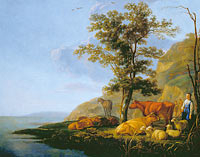 Aelbert Cuyp: Cattle near a River (1)