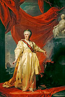 Dmitry Grigorievich Levitzky: Portrait of Catherine II the Legislatress in the Temple Devoted to the Godess of Justice